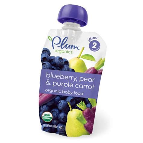 Babby Pack Cussons Baby Fresh And Nourish Purple Bag plum organics baby food blueberry pear purple carrot 4 ounce pouches pack of 24