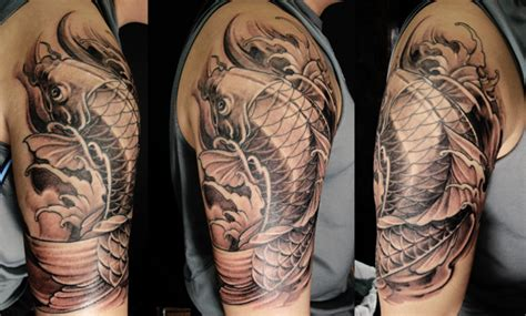 tattoo koi fish half sleeve the gallery for gt cool pisces tattoos for men