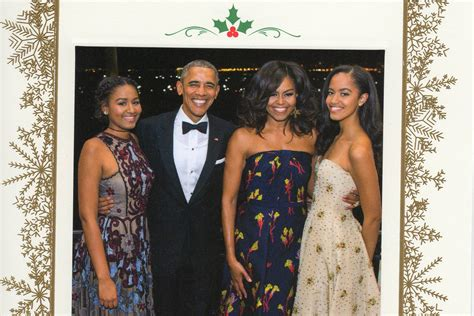 merry christmas obama and family hawaii 1 difference between s card and obama s card