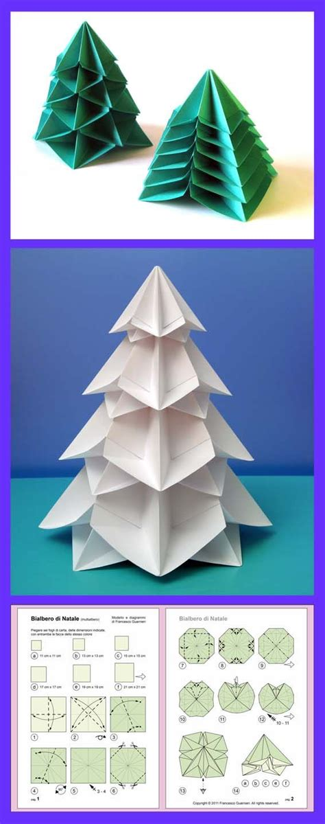 origami instructions bialbero di natale double