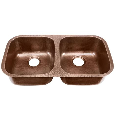 glacier bay undermount solid copper sink 19 in