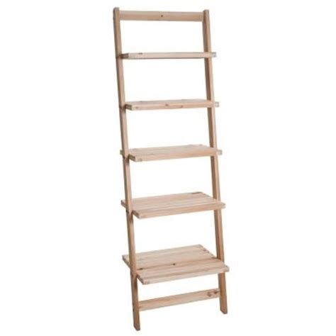 lavish home 5 tier ladder wood storage shelf 83 15