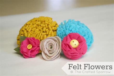 pattern for making felt flowers felt flowers tutorials 5 to choose from