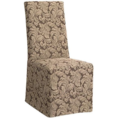 sure fit scroll slipcover sure fit scroll long dining room chair slipcover walmart com