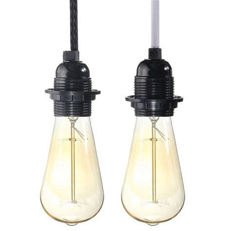 Hanging L Cord And Socket by 2 5m Cord E27 E26 Edison Pendant Light Holder Hanging L Socket Us Adapter Switch Alex Nld