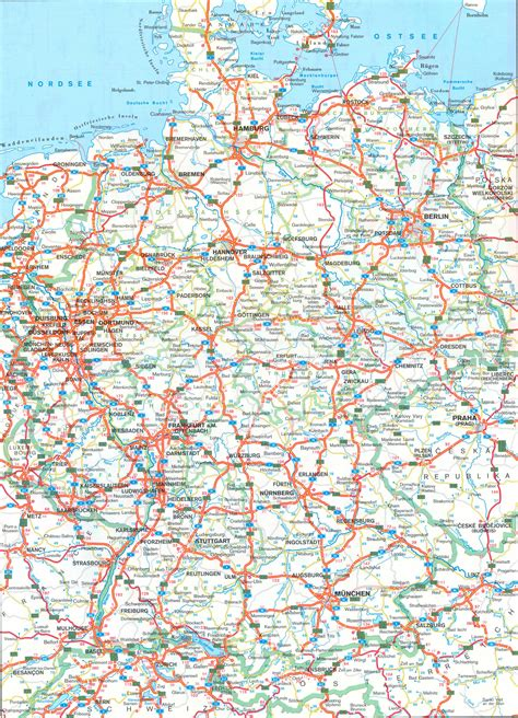 road map for germany road map size