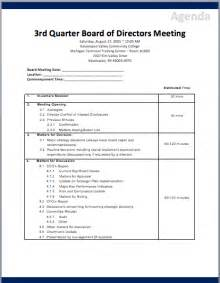 directors meeting agenda template board of directors meeting agenda template printable