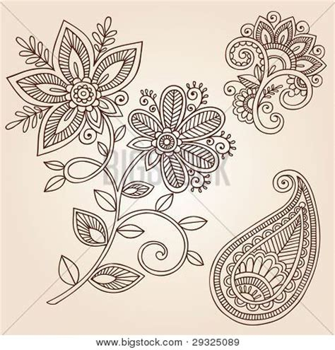 doodle significato italiano henna mehndi flower doodles vector photo bigstock