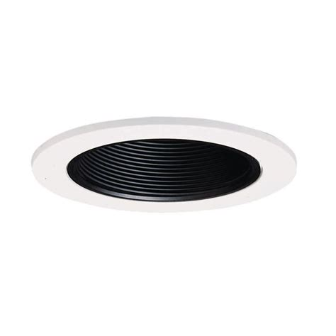 halo 4 in black recessed lighting baffle with white trim