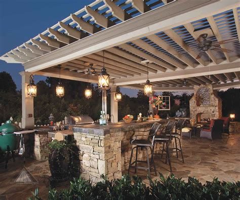 30 Rustic Outdoor Design For Your Home Antique White Wooden Pergola For