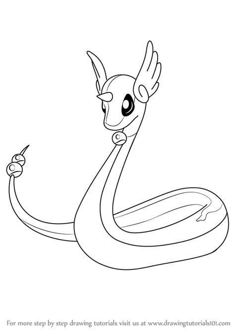 pokemon coloring pages dratini learn how to draw dragonair from pokemon pokemon step by