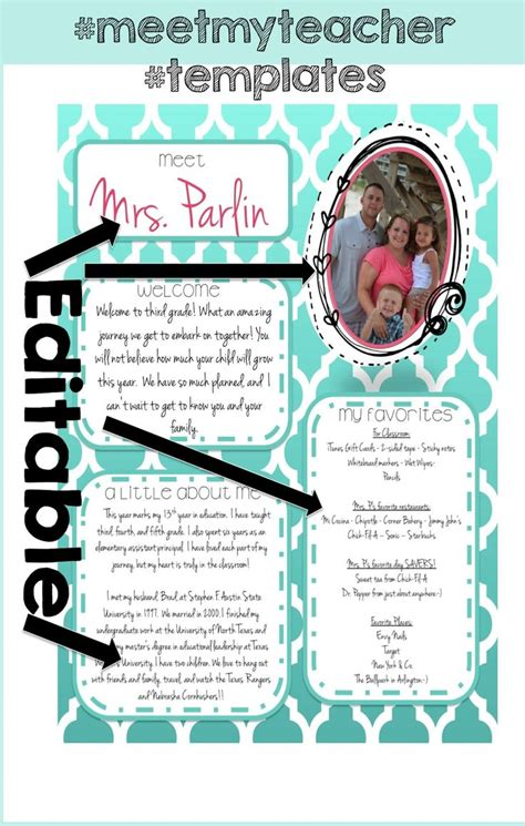 25 Best Ideas About Teacher Introduction Letter On Pinterest Teacher Welcome Letters Parent Templates For Teachers