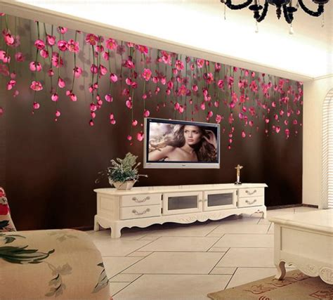 3d wallpaper for bedroom 16 uses of 3d stickers on tv wall units to add positive