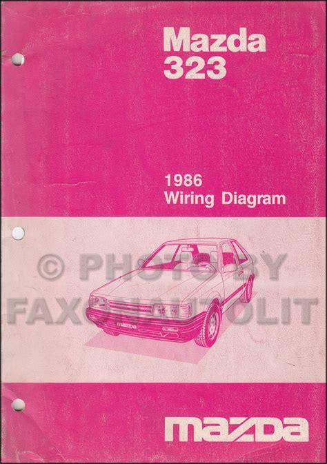 1989 mazda 323 wiring diagram