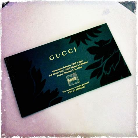 Gucci Gift Card - gucci invitation card business cards design pinterest