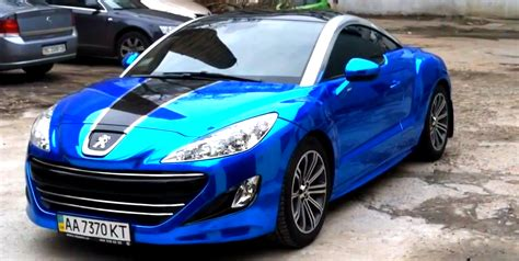 peugeot rcz tuning peugeot rcz gets blue chrome wrap video 62097 1 png 1904