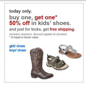 buy one get one free shoes target buy one get one 50 kid s shoes free