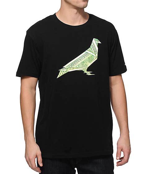Tshirt Origami - staple origami pigeon t shirt zumiez