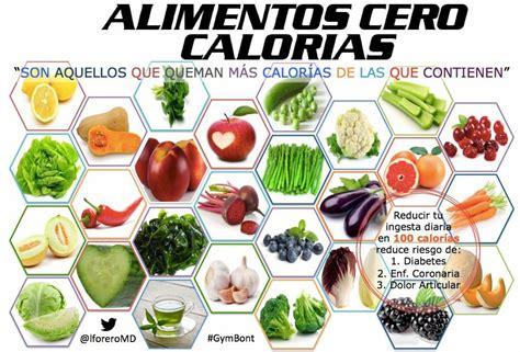 alimentos 0 calorias alimentos cero calor 237 as incluye estos alimentos en tu