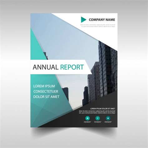 Business Report Template Design Business Report Template In Abstract Design Vector Free