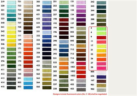 color marathon 29 model marathon embroidery thread colour chart ausbeta