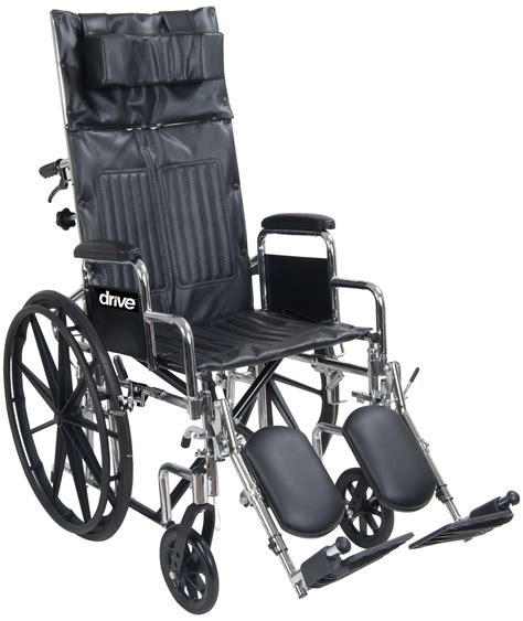drive reclining wheelchair drive medical chrome sport full reclining wheelchair