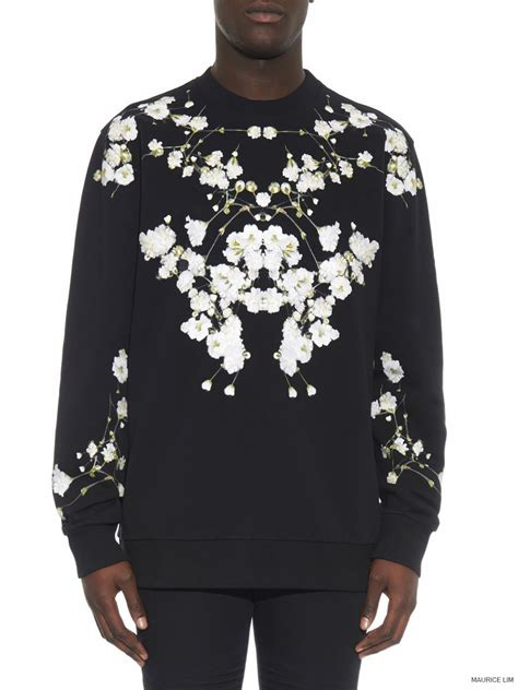 Sweatshirt Print givenchy baby s breath gypsophila print sweatshirt