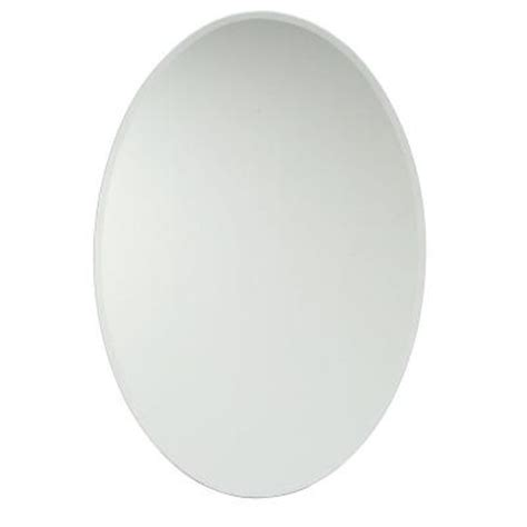 croydex 21 in x 31 in recessed or surface mount oval