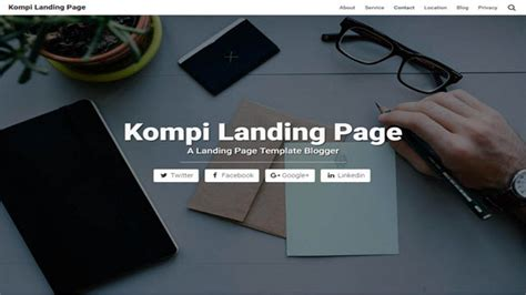 landing page templates for blogger kompi landing page blogger templates kaizentemplate
