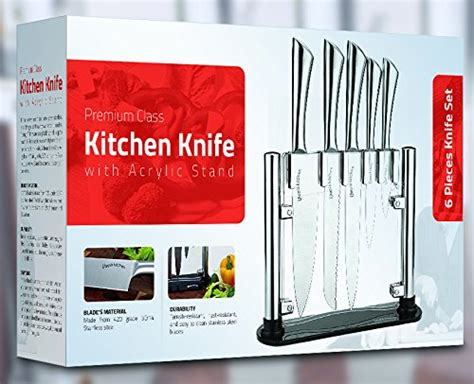 review premium class stainless steel kitchen 6 knife set with premium class stainless steel kitchen 6 piece knives set