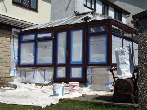 spray painting upvc spray painted upvc conservatory sd painting contractors