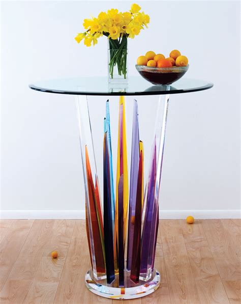 pretty tables beautiful glass bar tables by h studio digsdigs