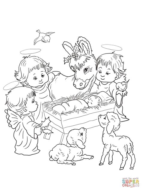 printable nativity scene animals 301 moved permanently
