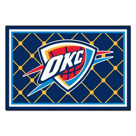 area rugs okc fanmats oklahoma city thunder 5 ft x 8 ft area rug 9411 the home depot