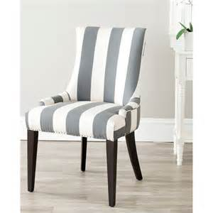 Striped Upholstered Dining Chairs Safavieh En Vogue Dining Becca Grey Side Chair By Safavieh Chairs Grey And Beige And Dining Rooms
