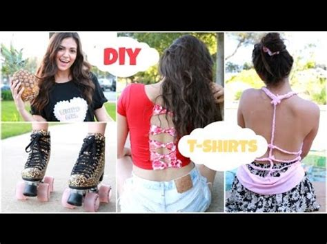 and easy hairstyles for school bethany mota easy unique diy t shirts for