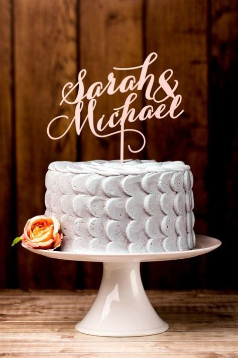 Wedding Cake With Name by Wedding Cake Topper Custom Names Light Pink 2165848
