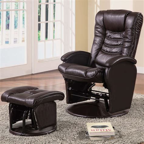 Coaster Recliners With Ottomans 600165 Casual Glider Reclining Glider Rocker Ottoman Set
