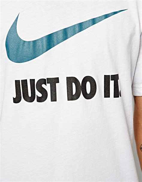 T Shirtbajukaosdistropolopakaianpria Just Do It 14 nike just do it t shirt with swoosh in white for lyst