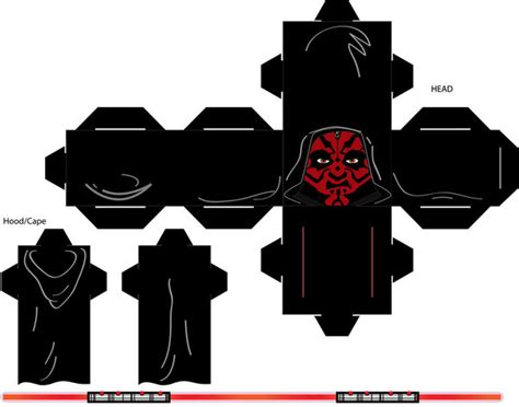 darth maul template darth maul cubee template 2 by rudyrjs on deviantart