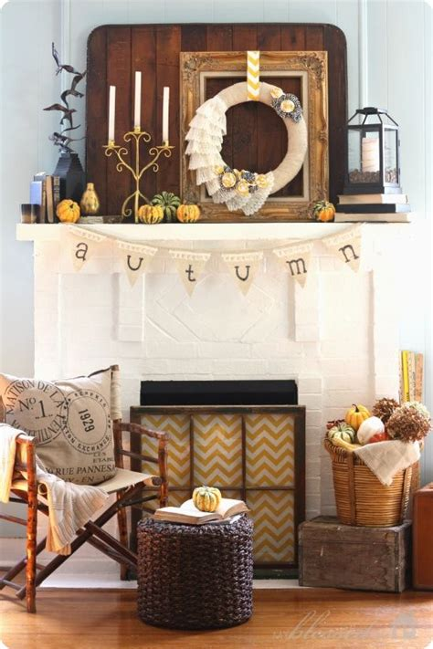 Harvest Windows Inspiration Mantel Inspiration For Fall Decor Homegoodshappy Fall Inspiration Fireplaces