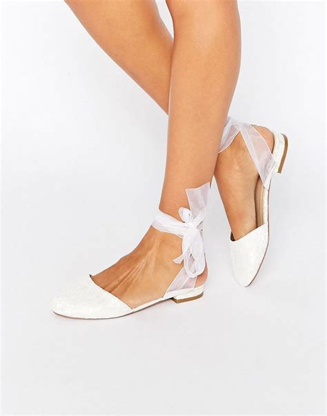 Flache Weiße Schuhe Hochzeit by Discover Fashion Day Dresses Shoes