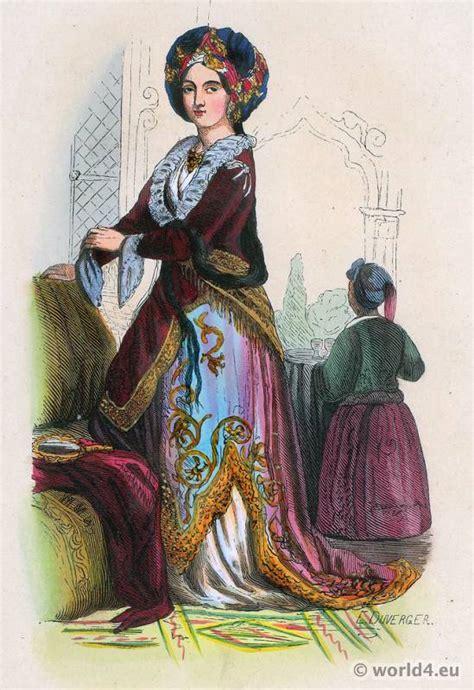 ottoman fashion turkish noble lady 1843 ottoman empire costumes archive
