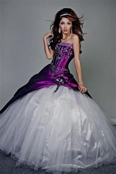 White Purple Dress purple and white wedding dresses plus size naf dresses