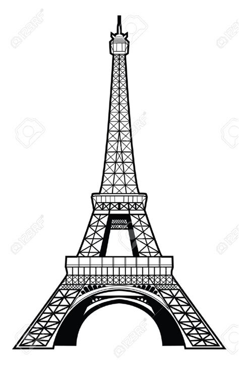 cartoon drawing of eiffel tower cartoon eiffel tower paris