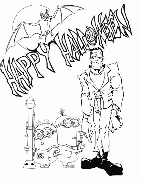 coloring pages minions halloween minion halloween coloring pages coloring home