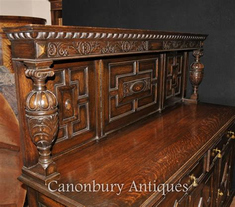 buffet kitchen furniture antique oak jacobean sideboard server buffet kitchen