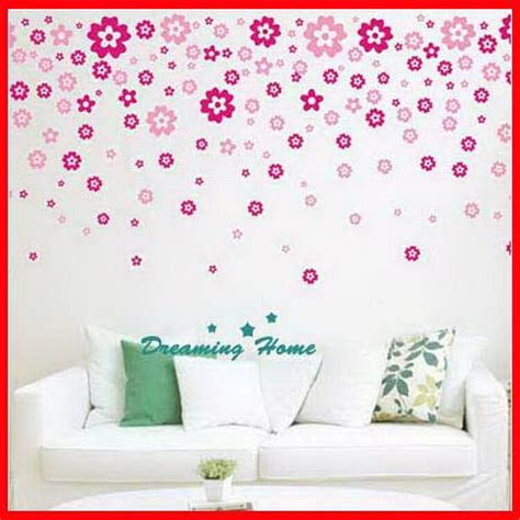 floral flower wall decals removable stickers decor