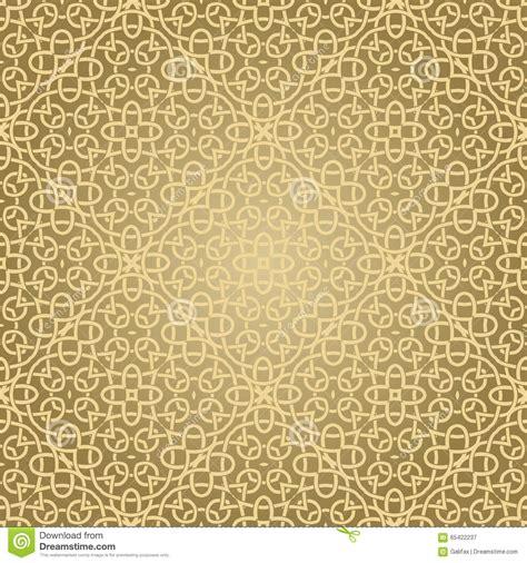islamic pattern gold seamless geometric islamic pattern stock vector image