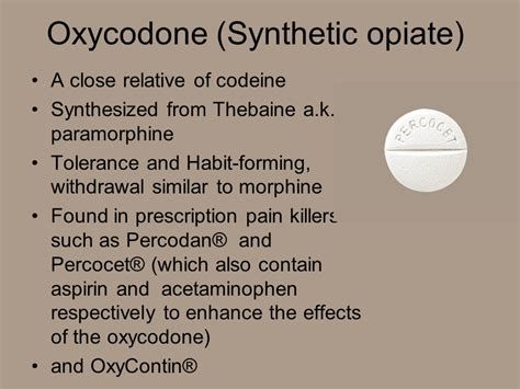 Opiates Detox Percocets by Drugs Chapter Ppt